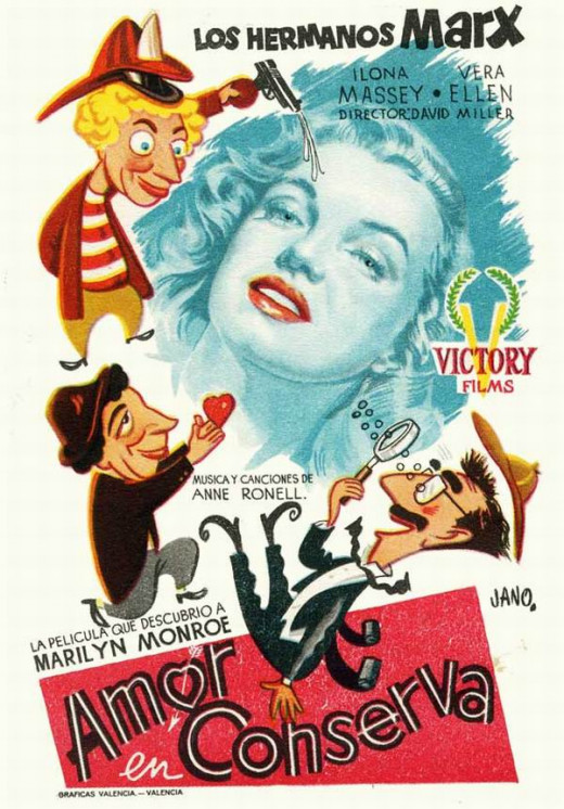 Love Happy (1949) Spanish poster