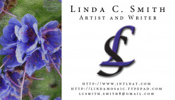 This is my own business card. As an artist I felt it important to show, at a glance, a little of what my business is about.