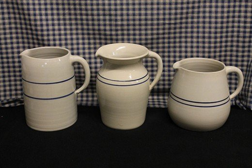 Different Styles of Stoneware Pitchers