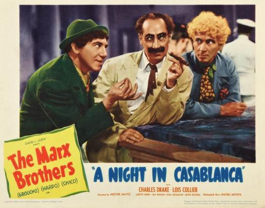 A Night in Casablanca (1946) Lobby card