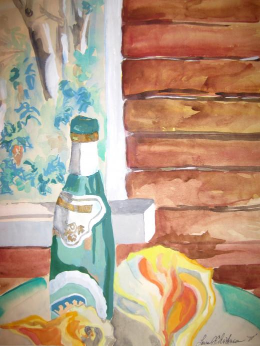 Porch Wine - Acrylic