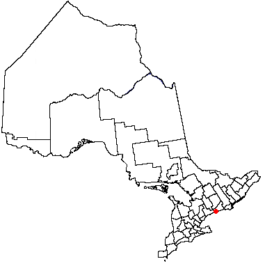 Map location of Port Hope, Ontario