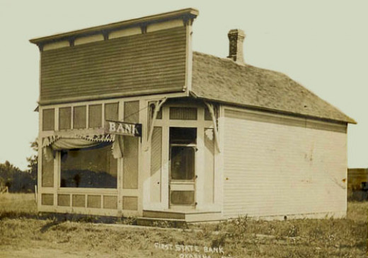 First State Bank of Okabena in 1906