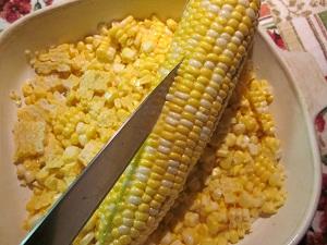 Splitting corn kernels to release the flavor.