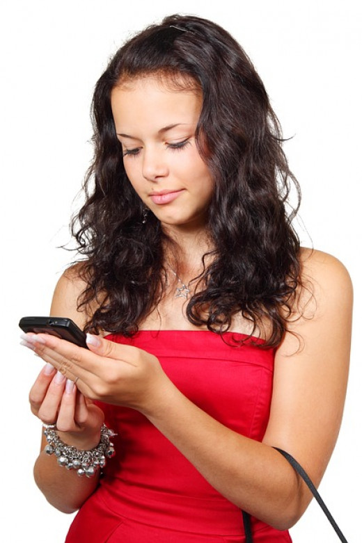 Woman Reading SMS