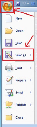 "MS Word ""Save As"""