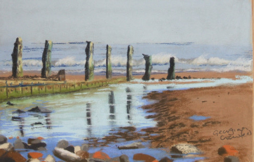 Rock pool Unison Pastels on Fisher 400 paper
