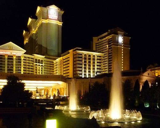 Caesar's Palace by night