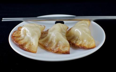 "Typical Taiwanese ""street style"" dumplings."