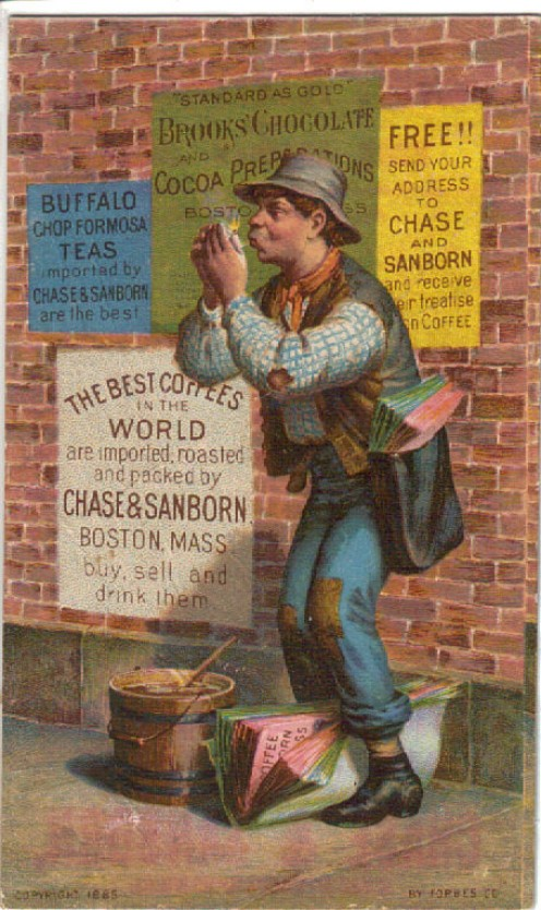Chase and Sanborn Coffee Advertisement, Sold for $30