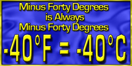 -40°F is equal to -40°C