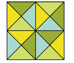 How many triangles can you count in the diagram below?