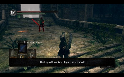 Not the most welcome of visitors in Dark Souls.