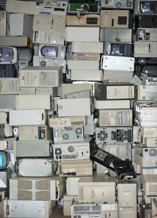 "Broken down computers wind up as ""e-waste"" and some of it goes to landfills. Some goes to Asia for recycling. There is a lot of it due to upgrading and breakdowns."