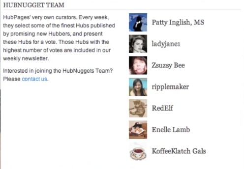 The HubPages Elite of HubNugget Team (Photo Source: HubPages)