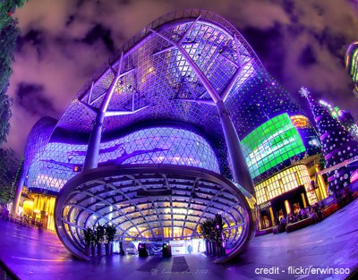 ION Orchard - the latest and swankiest shopping mall on Orchard Road. You can find brands like LV, Prada, Cartier, H&M and Sephora here.