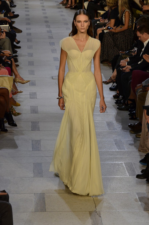 Pleated, soft fabrics and feminine silhouettes are perfect for spring. (Zac Posen Spring/Summer 2013)