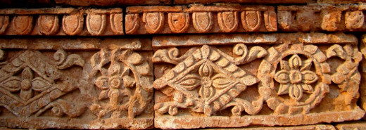 Terracotta design; Eklakhi mausolium 1