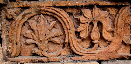 Terracotta design; Eklakhi mausolium 5