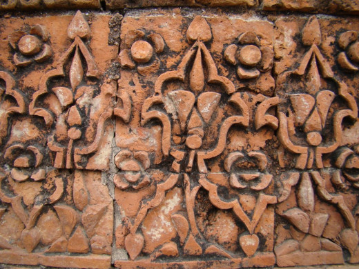 Terracotta art; Kherur mosque 3