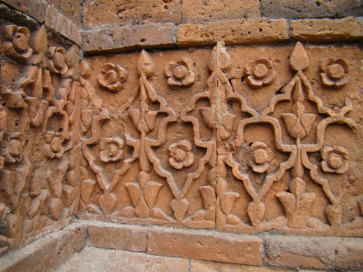 Terracotta art; Kherur mosque 5