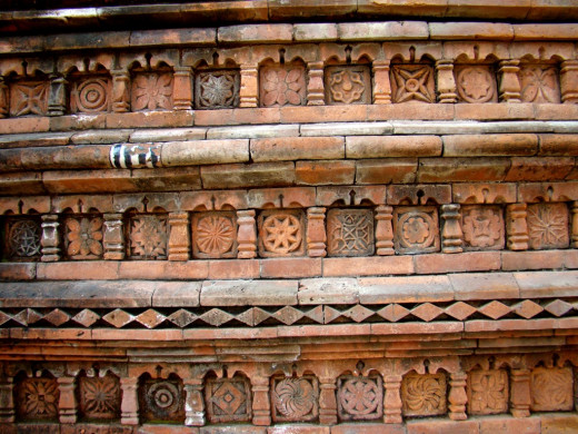 Terracotta art; Loton mosque 2