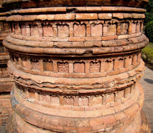 Terracotta art; Loton mosque 5