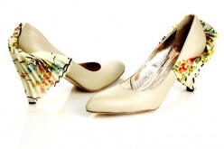 Handmade Vintage Fabric Designer Shoes For Women