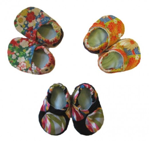 Handmade Fabric Shoes: Adorable Babies Booties