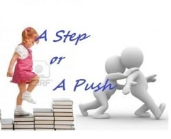 A Step or a Push (Poem)