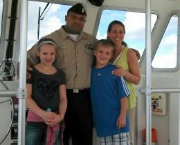 Friendly boat captain at the Pearl Harbor Memorial