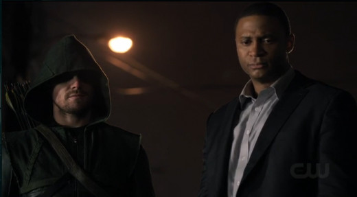 Ollie and Diggle team up to stop the armored car bandits.