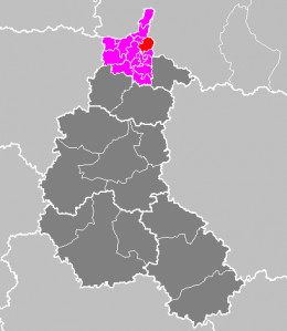 Map location of Monthermé canton