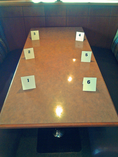 Guest Seating Numbers