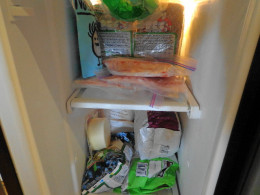 Freezer full of the basics, not processed foods...