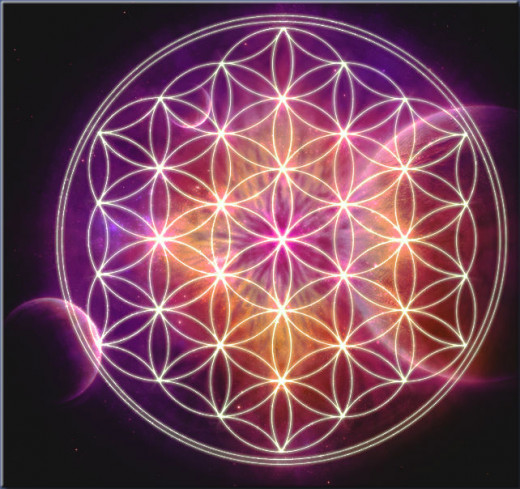 The flower of life is the building block of sacred geometry. It is thought to tap into the mystery knowledge of the universe.