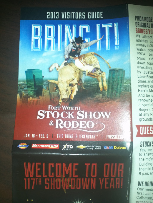 Brochure for Fort Worth Stock Show and Rodeo