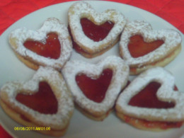 Bottom of My Heart Cookies with Strawberry Jam.