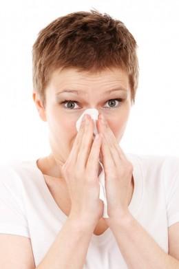 Sneeze in a handkerchief