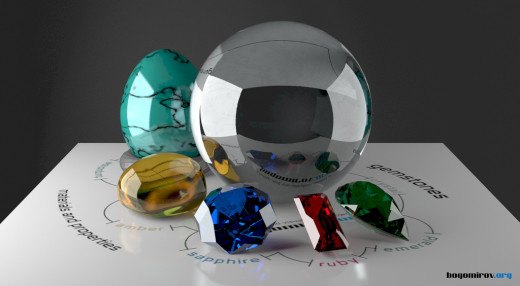 Gemstones come in all colors and shapes. Some people consider crystals, like this crystal ball, to be gems.