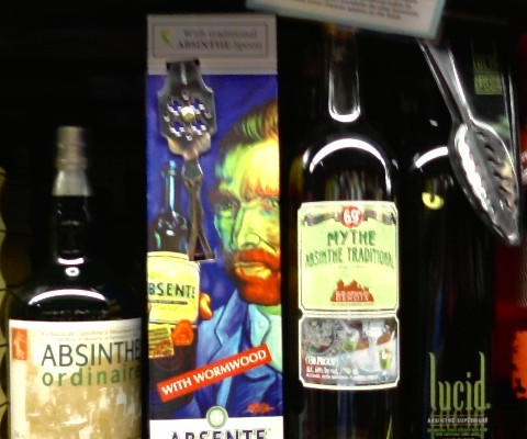 Different brands of Absinthe now available in the US.
