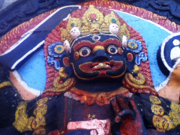 Ferocious looking Kala Bhairav. Before 1950, government employees had to take oath of office by touching the idol. It is said, those who abused power often died.