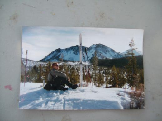 winter ski patrol, Lassen Volcanic NP