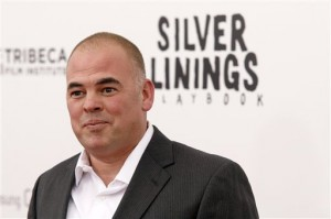 Author Matthew Quick at the premiere of Silver Linings Playbook