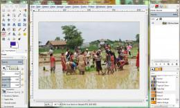 Screenshot of GIMP, one of the best free photo editing program