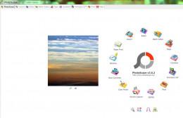 Screenshot of free photo manipulation software PhotoScape