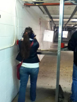 This was my very first time at the shooting range ... talk about nervous!