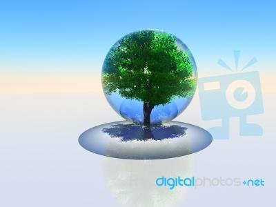 Liquid Oxygen bubble