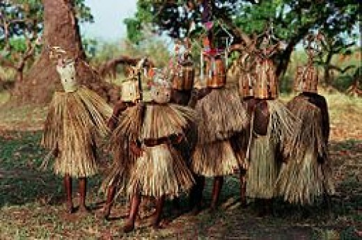 9–10-year-old boys of the Yao tribe in Malawi participating in circumcision and initiation rites.