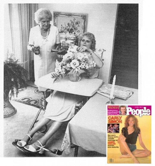Virginia Andrews was unaware that People Magazine took this photo of her.